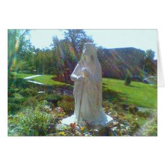 Grotte mit St. Bernadette Karte