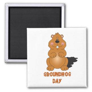 GROUNDHOG DAY-MAGNET QUADRATISCHER MAGNET