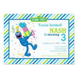 Grover Striped Geburtstag 12,7 X 17,8 Cm Einladungskarte