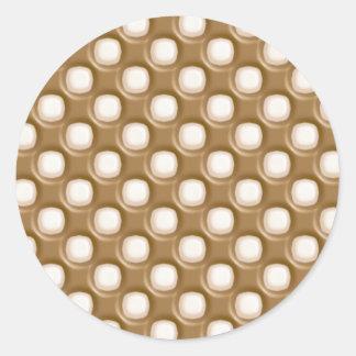 Grübchen-Punkte - Milchschokolade und weiße Schoko Runder Sticker