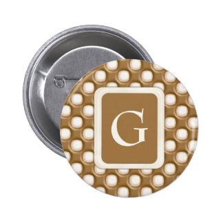 Grübchen-Punkte - Milchschokolade und weiße Schoko Runder Button 5,7 Cm