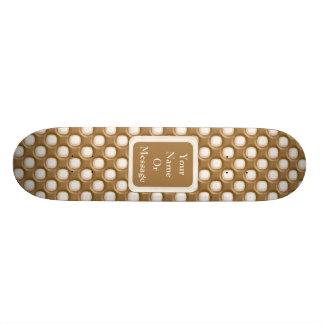 Grübchen-Punkte - Milchschokolade und weiße Schoko Skateboard Deck