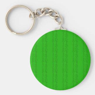 Grün auf Grün Standard Runder Schlüsselanhänger