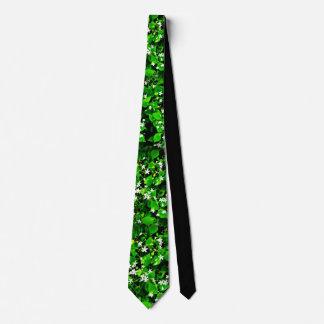Grün-Blätter Narture Liebhabers u. weiße Krawatte