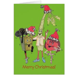 """Grün-""""Crunchy"""" Weihnachtskarte Grußkarte"""