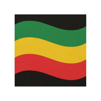 Grün, Gold (gelb) und rote Farbflagge Holzwanddeko