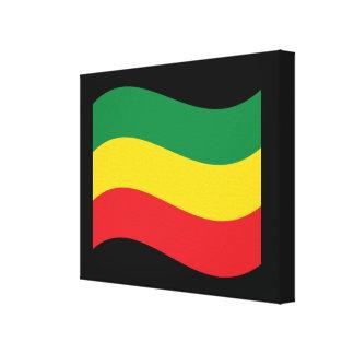 Grün, Gold (gelb) und rote Farbflagge Leinwanddruck