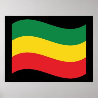 Grün, Gold (gelb) und rote Farbflagge Poster