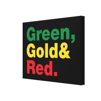 Grün, Gold u. Rot Leinwanddruck