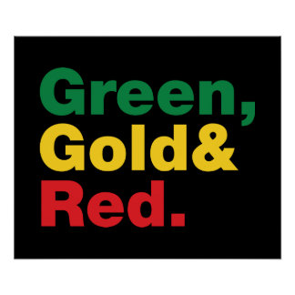 Grün, Gold u. Rot Poster