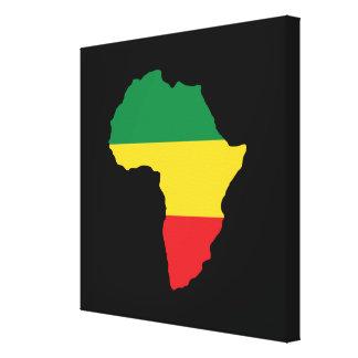 Grün, Gold u. rote Afrika-Flagge Leinwanddruck