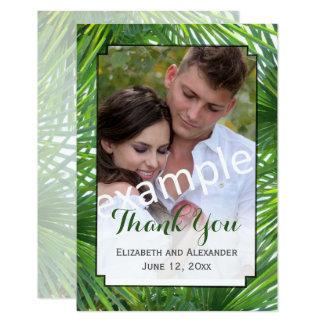 Grün-Hochzeits-Foto-kleine Ebene danken Ihnen zu 8,9 X 12,7 Cm Einladungskarte
