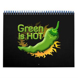 Grün ist HEISS Kalender