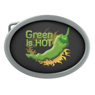 Grün ist HEISS Ovale Gürtelschnallen