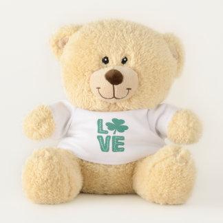 Grün-Liebe Kleeblatt-irische St. Patricks Tages Teddybär