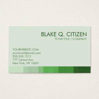 Grün schattiert gestreifte Visitenkarte