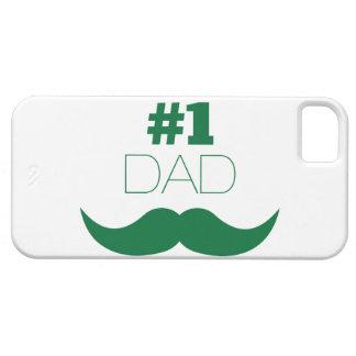 Grün-Schnurrbart des Vati-#1 - Nr. eine Barely There iPhone 5 Hülle
