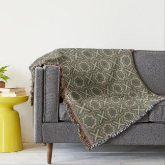 Grün und Brown-Muster Decke