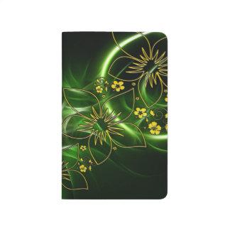 Grün und Goldzeitschriften-Schulbedarf Taschennotizbuch