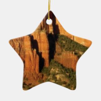 grün und Orange der Wüste Keramik Ornament