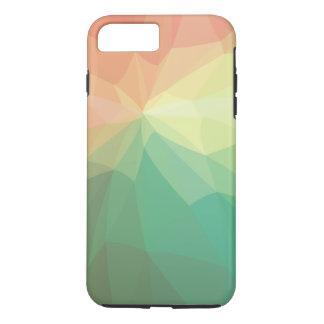Grün und Rosa verblaßten polygonal iPhone 7 Plus Hülle