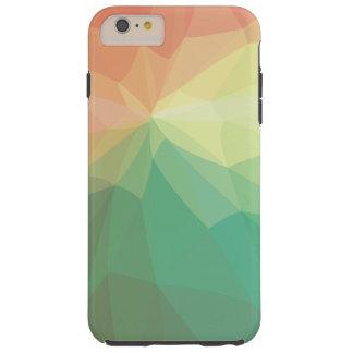 Grün und Rosa verblaßten polygonal Tough iPhone 6 Plus Hülle