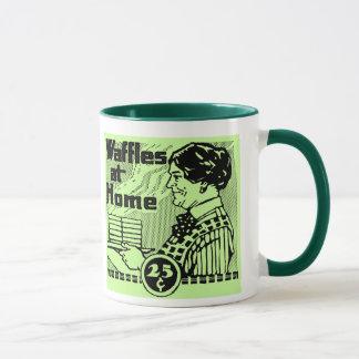 "Grün ""WAFFLES"" Kaffee-Tasse Tasse"