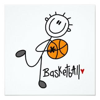 Grundlegende Strichmännchen-Basketball-T - Shirts Individuelle Ankündigung