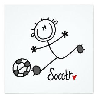 Grundlegende Strichmännchen-Fußball-Spieler-T - Individuelle Ankündigungen