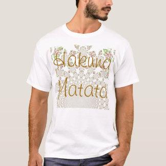 Grundlegende T - Shirt-Schablone Hakuna Matata T-Shirt