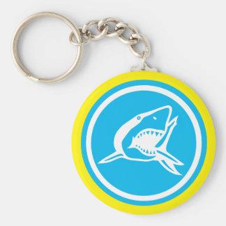 Grundlegender Haifisch-Knopf Keychain Schlüsselanhänger
