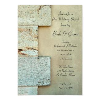 Grundstein-Posten-Hochzeits-Brunch-Einladung 12,7 X 17,8 Cm Einladungskarte