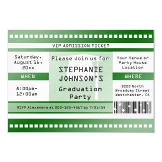 Grüne Abschluss-oder Party-Aufnahme-Karte 8,9 X 12,7 Cm Einladungskarte
