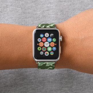 Grüne Armee-Tarnungs-Camouflage Apple Watch Armband