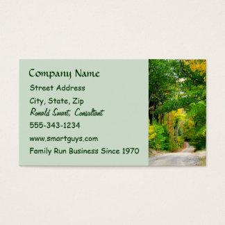 Grüne Baum-Visitenkarte Visitenkarten