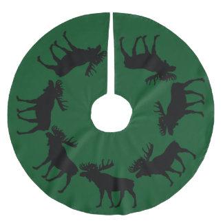 grüne Baumrock Weihnachtselche Polyester Weihnachtsbaumdecke