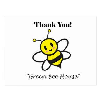 Grüne Biene Postkarte