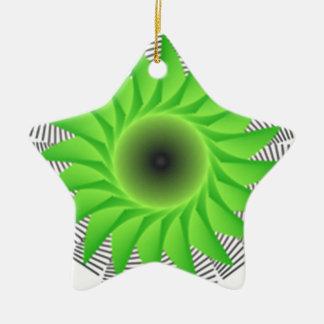 grüne Blume Keramik Ornament