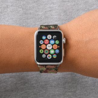 Grüne Brown-Armee-Tarnungs-Camouflage Apple Watch Armband