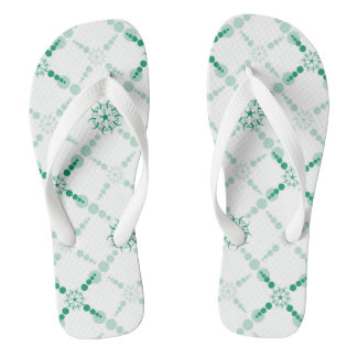 Grüne Ernte-Kreis Flip Flops