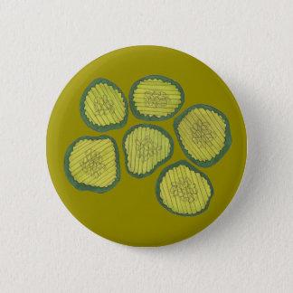 Grüne Essiggurke bricht reinen süßen Runder Button 5,7 Cm