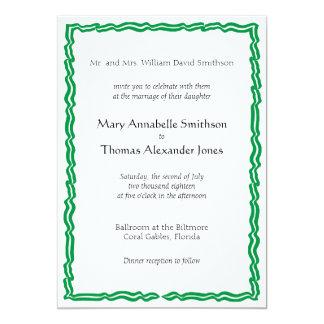 Grüne Fahnen-Hochzeits-Einladung 12,7 X 17,8 Cm Einladungskarte