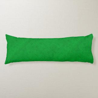 Grüne Farbsamt-Blick-Gras-Neongrün Seitenschläferkissen