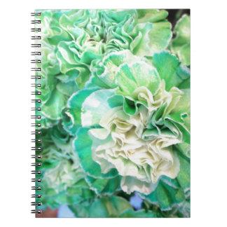 Grüne Gartennelke Notizblock