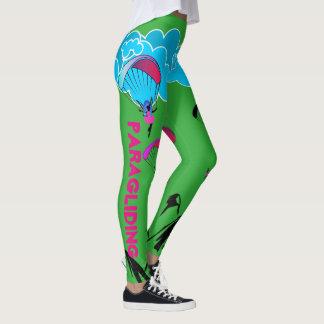 Grüne Gleitschirmfliegen-Elf-Gamaschen Leggings
