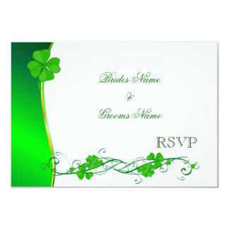 Grüne glückliche Kleeblatt-Muster UAWG-Karten 8,9 X 12,7 Cm Einladungskarte