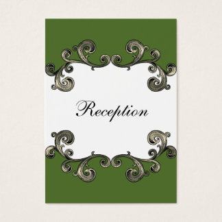 grüne Hochzeit Empfangs-Karten Visitenkarte