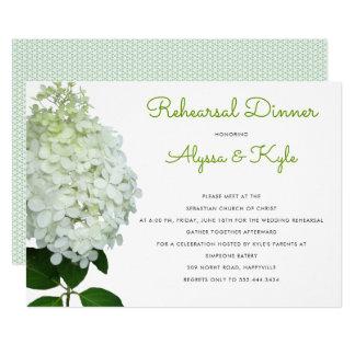 Grüne Hochzeits-Proben-große Blumen-Einladung 12,7 X 17,8 Cm Einladungskarte