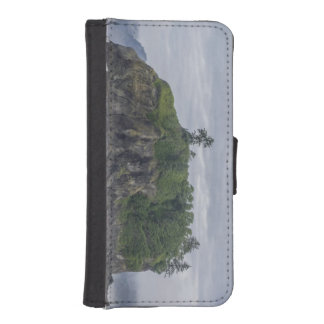 Grüne Inselphotographie vom indischen Kontinent iPhone SE/5/5s Geldbeutel Hülle