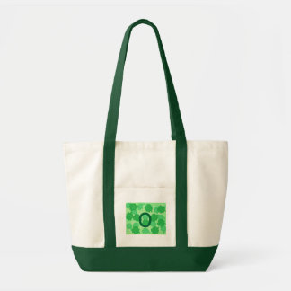 Grüne Kleeblätter, Monogramm-Taschen-Taschen, Tragetasche